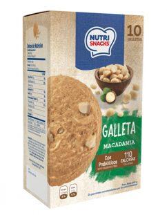 Galletas Nutrisnacks de macadamia, con prebióticos y 110 calorías por porción