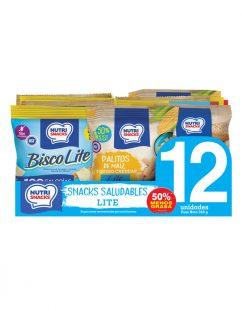 12 pack snacks saludables lite Nutrisnacks
