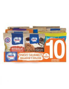 10 pack snacks saludables mixtos salados y dulces Nutrisnacks