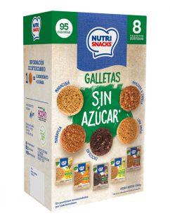 8 pack de galletas sin azúcar Nutrisnacks, sabores variados
