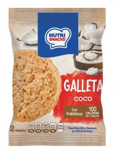 Galletas Nutrisnacks de Coco, con prebióticos y con solo 100 calorías