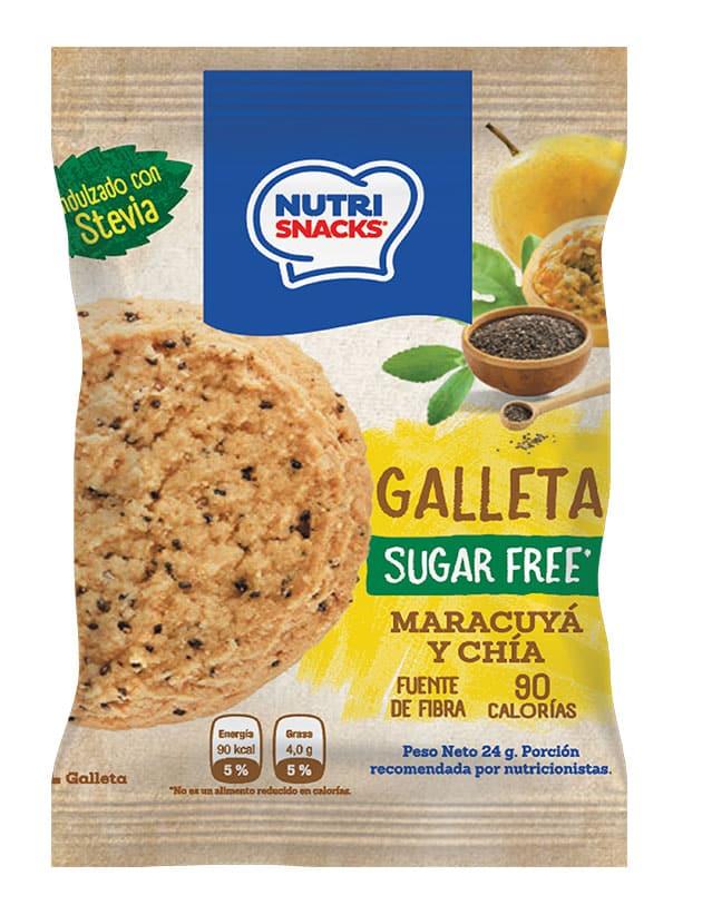 Galleta Maracuyá y chía sin azúcar