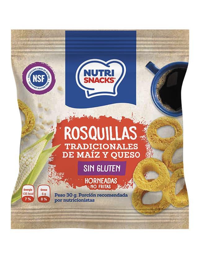 Rosquillas tradicionales de maíz y queso sin gluten