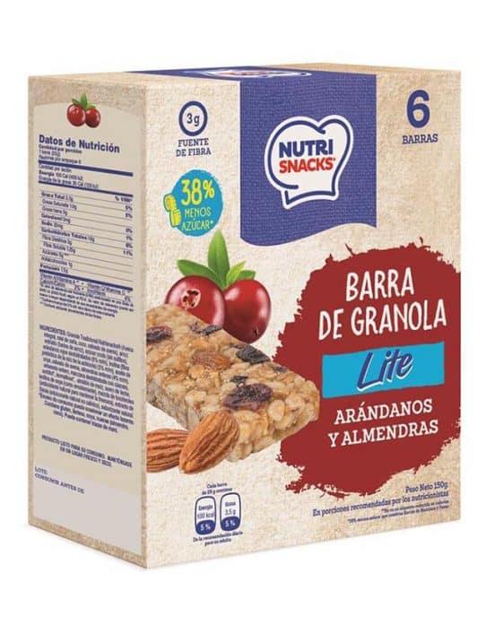 Barra de granola Lite con arándanos y almendras caja 150g