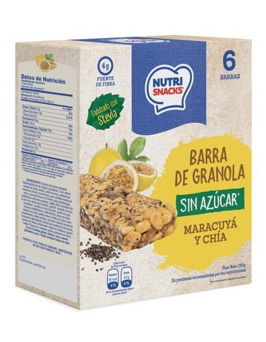 Barra de granola con Maracuyá y Chía Sin Azúcar