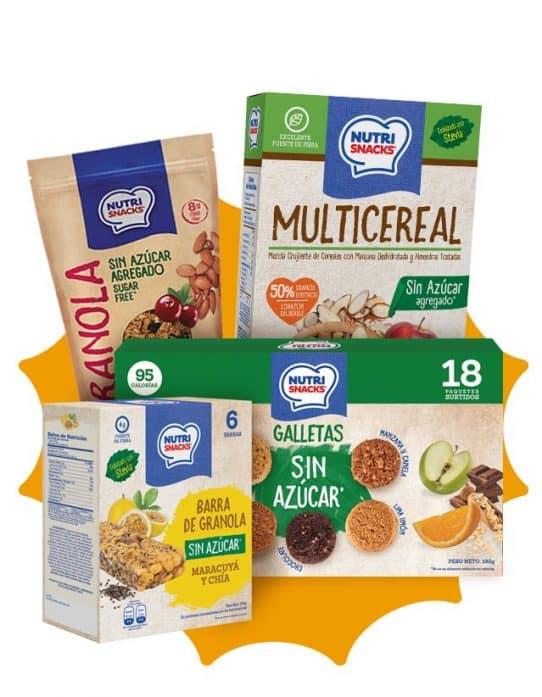 Combo sin azúcar (sugar free) Nutrisnacks